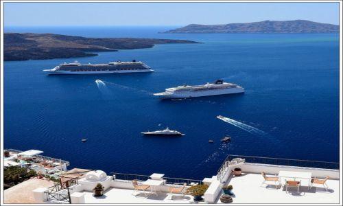 Zdjecie GRECJA / Santorini / Fira / Kaldera