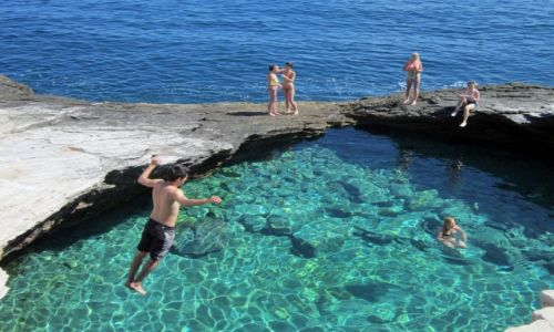 Zdjecie GRECJA / Wyspy Egejskie / Thassos / Natural swimming pool