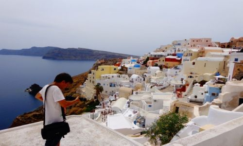 Zdjecie GRECJA / Cyklady / Santorini / Santorini caldera