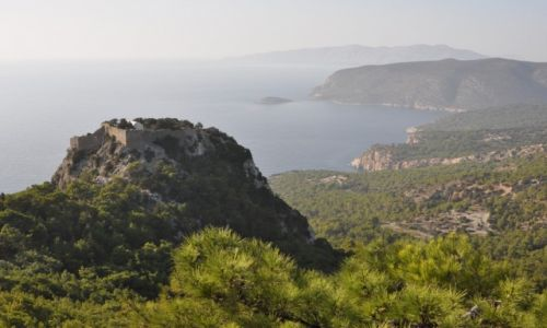 Zdjecie GRECJA / Rodos / wybrzeże zachodnie / Zamek w Monolithos