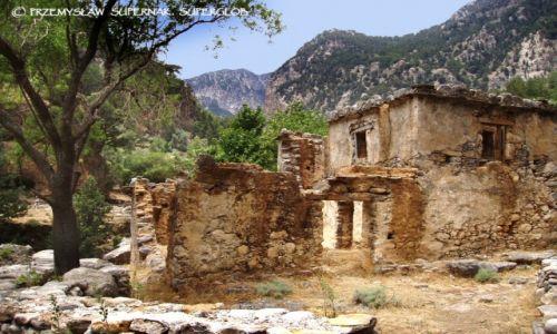 Zdjęcie GRECJA / Kreta / Wąwóz Samaria / Opuszczona wioska