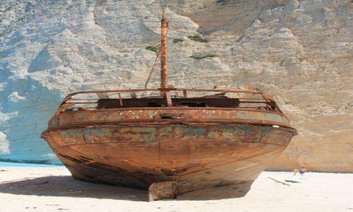 Zdjęcie GRECJA / Zakhyntos / Navagio / Historia w piasku