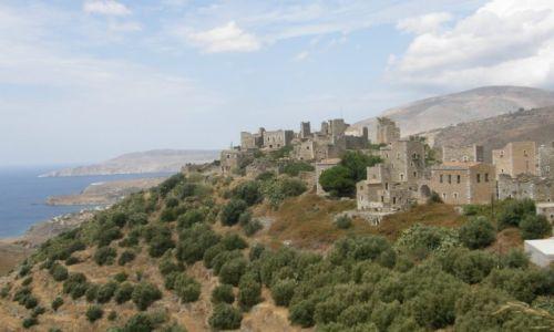 GRECJA / Peloponez  / Półwysep Mani / Charakterystyczne budowle - wieże