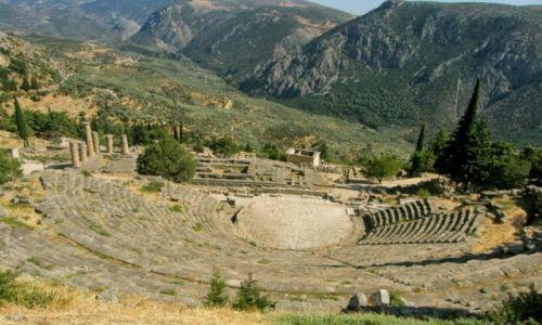 GRECJA / - / Delfy / Amfiteatr w Delfach