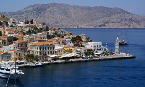 Zdjęcie GRECJA / Dodekanez / wyspa Symi / Nabrzeże