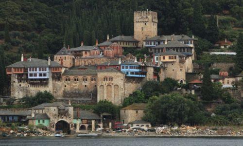 Zdjecie GRECJA / Półwysep Chalcydycki / Autonomiczna Republika Góry Athos / Klasztor Dochiariou