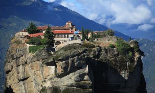 GRECJA / Tesalia / Meteory / Klasztor Wszystkich Świętych - Warłaama