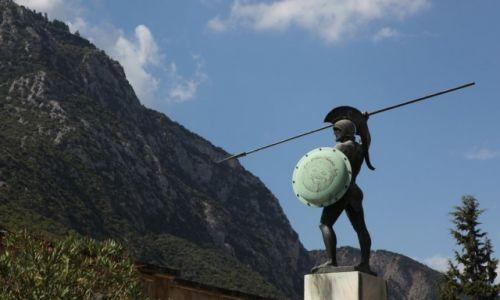 Zdjęcie GRECJA / Fthiotida / Naprzeciwko wąwozu Termopile / Pomnik króla Sparty Leonidasa