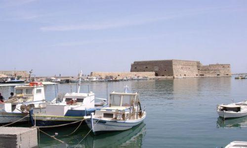 Zdjęcie GRECJA / Kreta / Heraklion / Widok na port i twierdzę wenecką