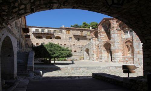 Zdjęcie GRECJA / Beocja / W pobliżu miasta Distomo / Klasztor Osios Lukas, brama