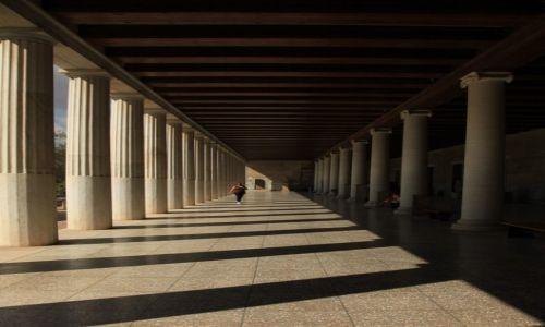 Zdjęcie GRECJA / Ateny / Agora / Wnętrze Stoi Attalosa II