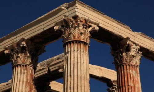 Zdjęcie GRECJA / Ateny / Olimpiejon / Świątynia Zeusa Olimpijskiego, detale