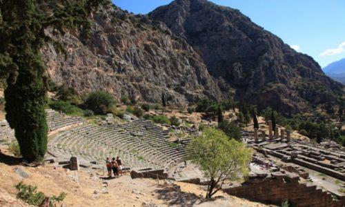 Zdjęcie GRECJA / Delfy / Prastare misto / Epidauros, miejsce kultu boga uzdrowiciela - Askepiosa