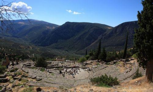 Zdjęcie GRECJA / Góry Parnas / Delfy / Ruiny antycznego miasta