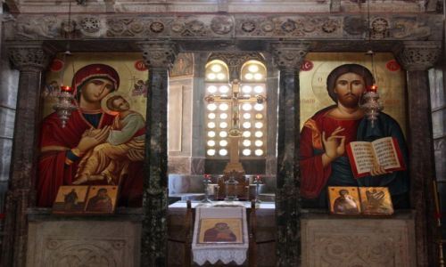 GRECJA / W pobliżu miasta Distomo / Klasztor Osios Lukas / Ikonostas