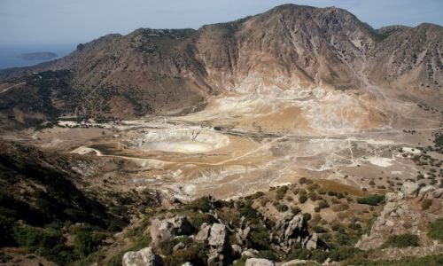 Zdjecie GRECJA / Nisyros / Nisyros / Aktywny Wulkan Stefanos