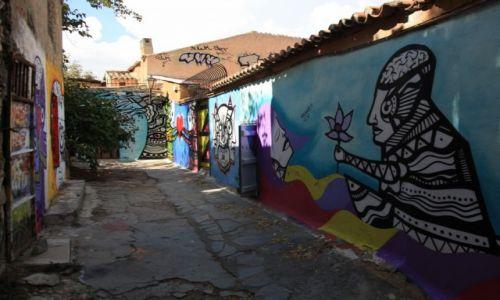 Zdjęcie GRECJA /  Ateny / Anafiotika / Graffiti