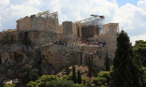 Zdjecie GRECJA / Ateny / Wzgórze Aresa / Widok na Akropol