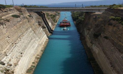 Zdjęcie GRECJA / Peloponez / Korynt / Korek w kanale