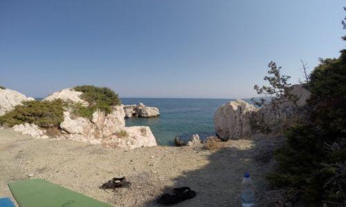 GRECJA / Rodos / Amiros Skala / Widok morza z pozycji osoby śpiącej