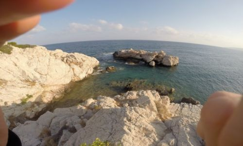 GRECJA / Rodos / Amiros Skala / Widok morza ze skarpy