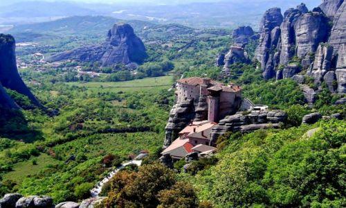 GRECJA / Tesalia / Meteory / Roussanou i Agios Nikolas Anapafsas Monastery