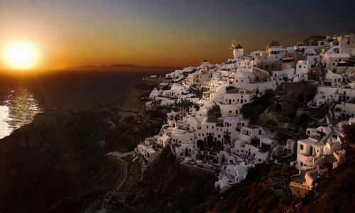 Zdjecie GRECJA / Cyclades / Santorini / Zachód Słońca