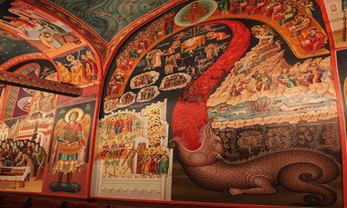 Zdjecie GRECJA / Twssalia  / Meteory, klasztor św. Szczepana / Sąd ostateczny, fragment
