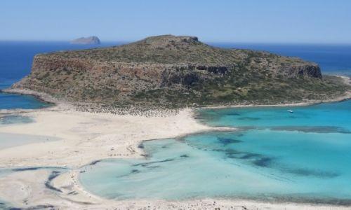 Zdjecie GRECJA / Kreta / Gramvousa / Widok na wyspę Gramvousa