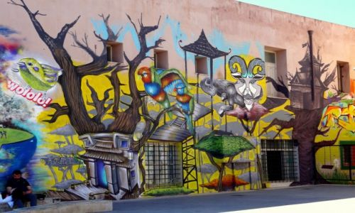 Zdjęcie GRECJA / Kreta / Rethymnon / Graffiti