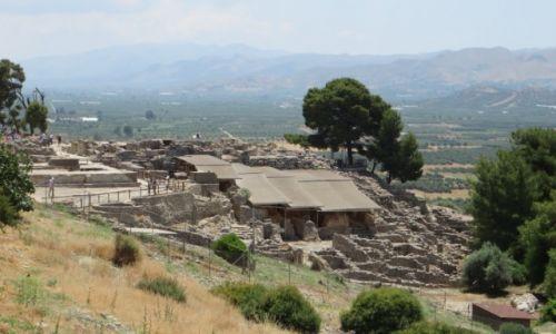 Zdjęcie GRECJA / Kreta / Faistos / panorama pozostałości pałacu w Fajstos