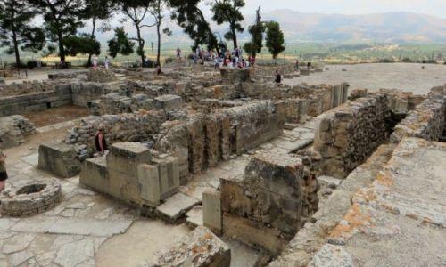 Zdjęcie GRECJA / Kreta / Fajstos / pozostałości pałacu w Fajstos