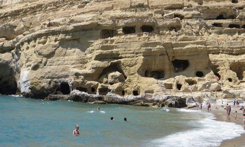 Zdjecie GRECJA / Kreta / Matala / plaża w Matala