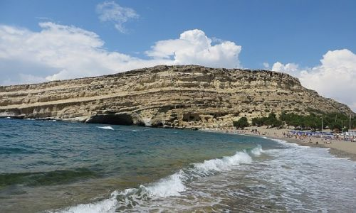 Zdjęcie GRECJA / Kreta / Matala / plaża w Matala