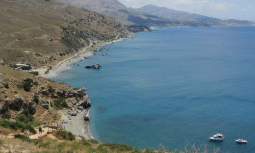 Zdjęcie GRECJA / Kreta / okolice klasztoru Preveli / widok na plażę