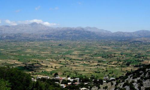 Zdjecie GRECJA / Kreta  / Płaskowyż Lassithi  / Płaskowyż Lassithi i góry Dikti