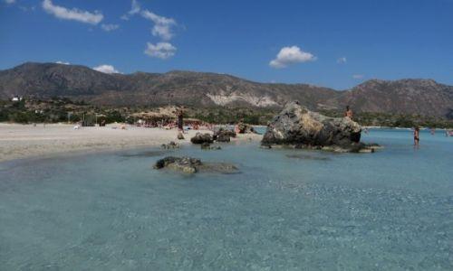 GRECJA / Kreta / Kreta Zachodnia / plaża Elafonisi