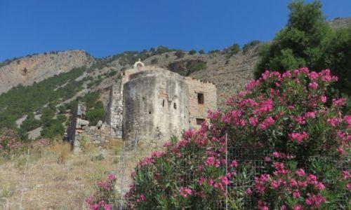 Zdjęcie GRECJA / Kreta / Kreta Zachodnia / ruiny starej Agia Roumeli