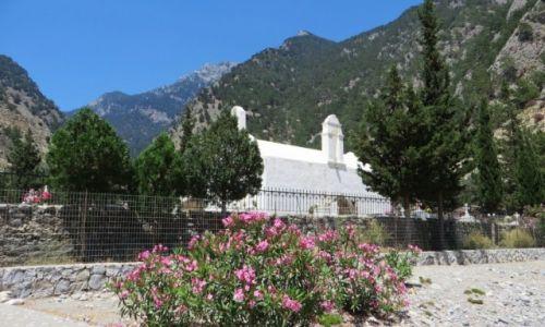 Zdjęcie GRECJA / Kreta / wąwóz Samaria / kościół w starej Agia Roumeli