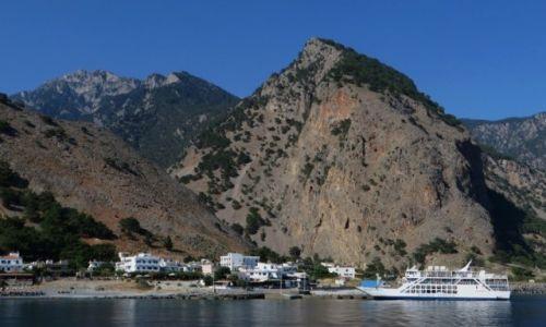 Zdjęcie GRECJA / Kreta / Kreta Zachodnia / panorama Agia Roumeli