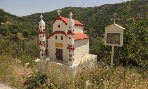 Zdjęcie GRECJA / Kreta / okolice wioski Azogires / przydrożna kapliczka