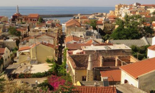 Zdjęcie GRECJA / Kreta / Chania / panorama miasta