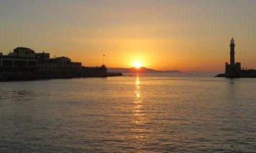 Zdjęcie GRECJA / Kreta / Chania / zachód słońca