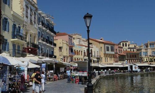 Zdjęcie GRECJA / Kreta / Chania / port wenecki o poranku