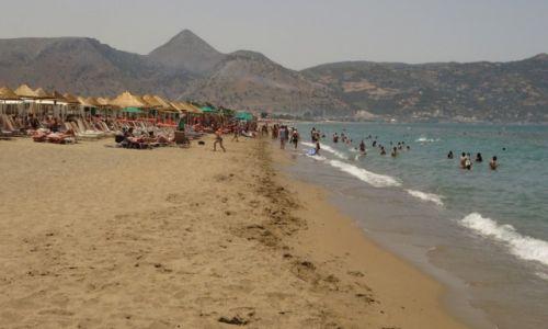 Zdjęcie GRECJA / Kreta / okolice Heraklionu / plaża w Amoudara