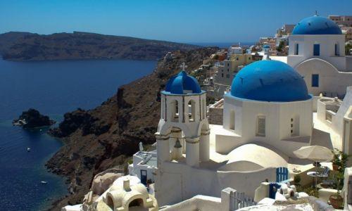 Zdjęcie GRECJA / Santorini / Oia / Biało i niebiesko