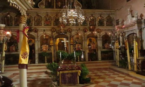 Zdjęcie GRECJA / Korfu / Paleokastritsa / klasztor Paleokastritsa