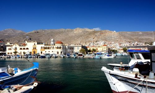Zdjęcie GRECJA / Kalimnos / Pothia / widok z portu