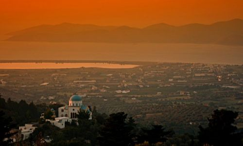Zdjęcie GRECJA / Kos / Zia / panorama z wioski  Zia