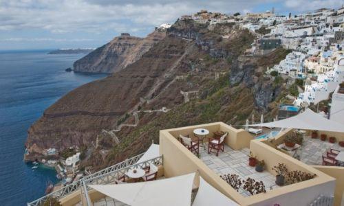 GRECJA / Santorini / Fira / Widok z balkonu